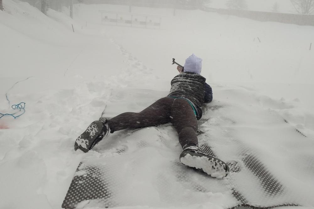  Une jeune biathlète en Lozère… un week end sous la neige